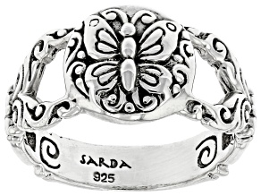 Sterling Silver Butterfly Band Ring