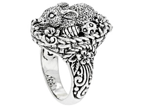 """Silver """"Blessed & Loved"""" Easter Bunny Ring"""