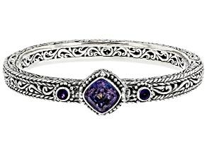 Chatty™ Quartz & Amethyst Silver Bracelet 3.78ctw