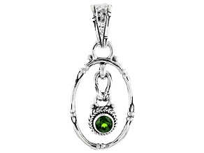 Green Chrome Diopside Sterling Silver Pendant .44ct