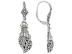 Sterling Silver Clamshell Earrings