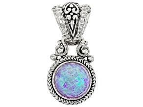 Opal Quartz Doublet Silver Pendant 3.15ct