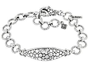 "Sterling Silver ""Dig In Deeper"" Bracelet"