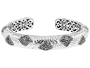 """Sterling Silver """"Step Out In Faith"""" Cuff Bracelet"""