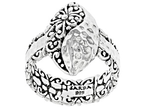 """Sterling Silver """"Step Out In Faith"""" Ring"""