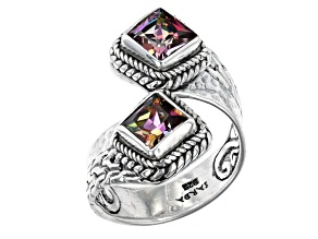 Bali Sunrise™ Topaz Sterling Silver Bypass Ring 2.30ctw