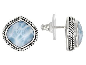 Larimar Sterling Silver Stud Earrings