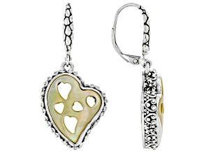 South Sea Mother-of-Pearl Silver Earrings