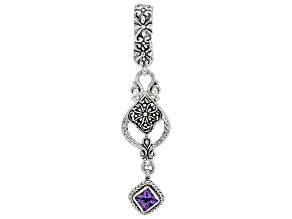 Purple Amethyst Sterling Silver Enhancer Pendant .60ct