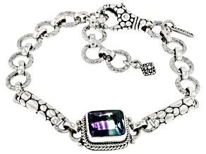Bi-Color Fluorite Sterling Silver Bracelet 4.76ct