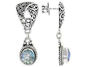 Electric Moment™ Quartz Silver Earrings 4.60ctw