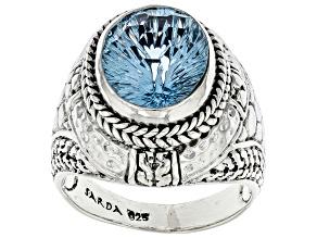 Sky Blue Topaz Sterling Silver Ring 5.10ct