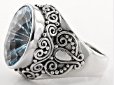 Sky Blue Topaz Sterling Silver Ring 7.50ct