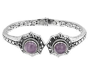 Kunzite and Pink Sapphire Silver Bracelet .04ctw