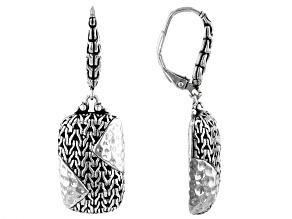 "Sterling Silver ""Great Calm"" Chainlink Earrings"