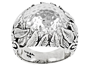 """Silver """"Nurturing What You Sow"""" Dome Ring"""