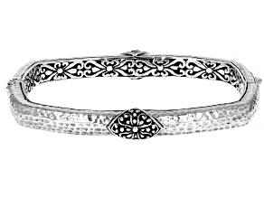 "Silver ""His Glory Gives Us Light"" Bangle Bracelet"