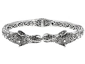 Sterling Silver Colossal Elephant Bangle Bracelet