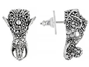Sterling Silver Colossal Elephant Earrings