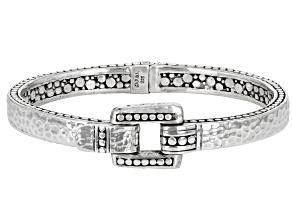 """Silver """"Trusting Intentionally"""" Bangle Bracelet"""