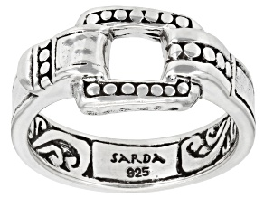 """Silver """"Trusting Intentionally"""" Band Ring"""
