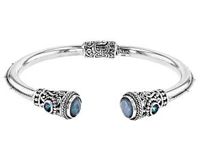 Quartz Triplet & Sheer Luck™ Topaz Silver Bracelet 3.62ctw