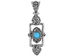 Sleeping Beauty Turquoise Quartz Doublet Silver Pendant
