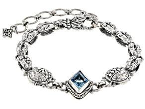 Swiss Blue Topaz Silver Bracelet 2.95ct