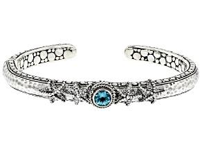 Paraiba Color Apatite Silver Bracelet .77ct