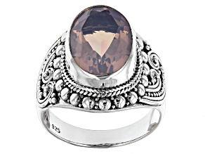 Lavender Quartz Sterling Silver Ring 4.89ctw