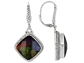Multi-Color Ammolite Sterling Silver Earrings