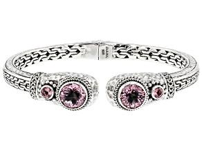 Pink Cashmere™ Quartz, Pale Plum™ Topaz Silver Bracelet 5.36ctw