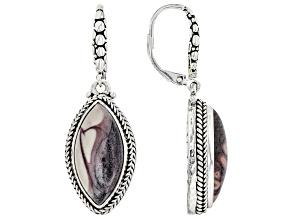 Porcelain Jasper Sterling Silver Earrings