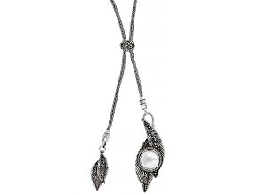 White Cultured Mabe Pearl Sterling Silver Necklace