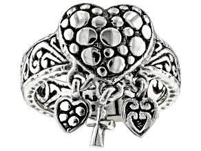 """Sterling Silver """"You Are Loved & Cherished"""" Charm Ring"""