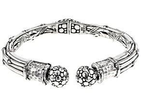 """Sterling Silver """"You Are Blessed"""" Bamboo Cuff Bracelet"""