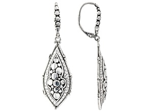 """Sterling Silver """"You Are Blessed"""" Bamboo Earrings"""