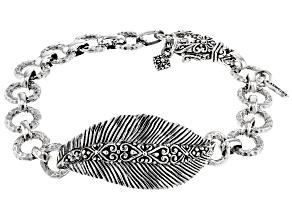 "Sterling Silver ""Sowing & Reaping"" Leaf Bracelet"