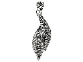 """Sterling Silver """"Sowing & Reaping"""" Leaf Pendant"""