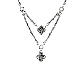 """Sterling Silver """"Prayer Changes Things"""" Statement Necklace"""