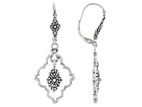 """Silver """"Slow To Anger, Quick To Forgive"""" Earrings"""