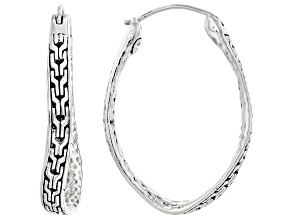 Sterling Silver Chainlink Hoop Earrings