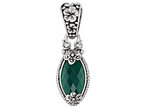 Green Onyx Sterling Silver Pendant