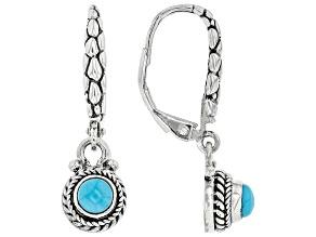 Blue Sleeping Beauty Turquoise Silver Earrings
