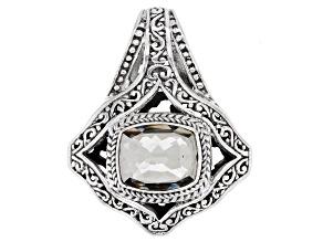 Platinum Quartz Triplet Silver Pendant 5.25ct