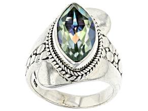 Green Reflections™ Quartz Silver Ring 3.23ct