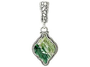 Green Opal Silver Enhancer Pendant