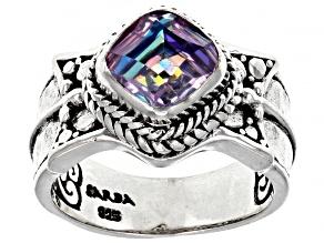 Pink Vapor™ Quartz Silver Ring 1.85ct