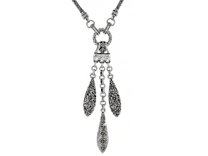 """Silver """"Sow Into Patience"""" Statement Necklace"""