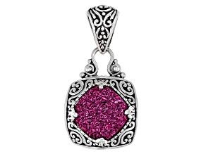 Pink Charmer™ Drusy Quartz Silver Pendant